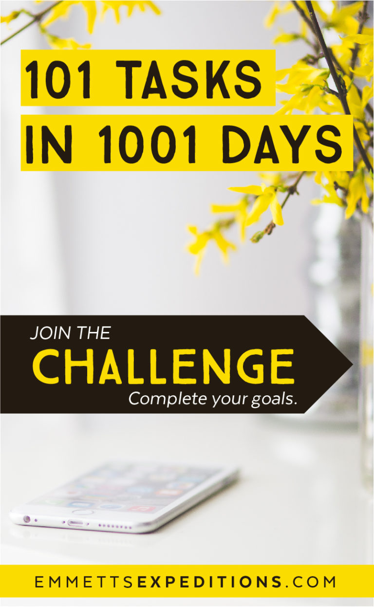 101 Tasks in 1001 Days