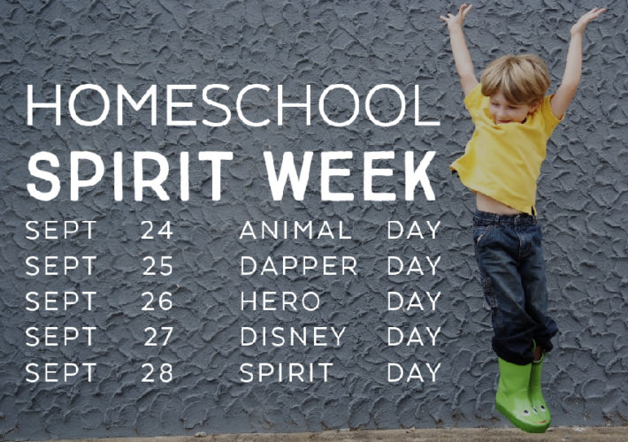 homeschool spirit week 2018